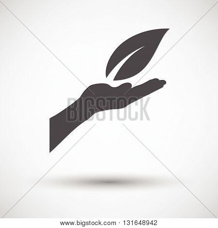 Hand Holding Leaf Icon