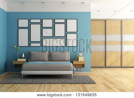 Blue Modern Bedroom