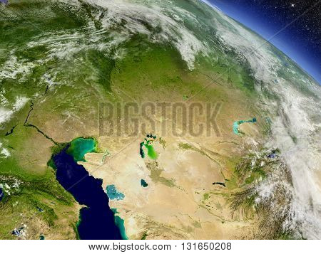 Kazakhstan From Space