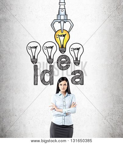 Idea And Choice Concept Businesswoman
