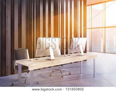 Office Interior Side Toning