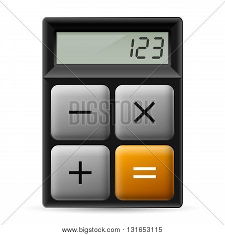 Simple black calculator icon with four buttons.