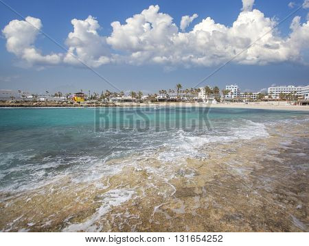 Nissi beach on Cyprus island Ayia Napa