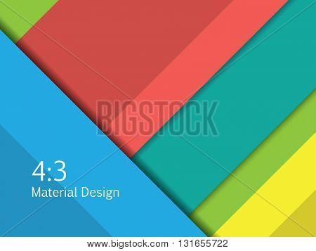 Background Unusual modern material design. Format 16:9 . Vector Illustration.