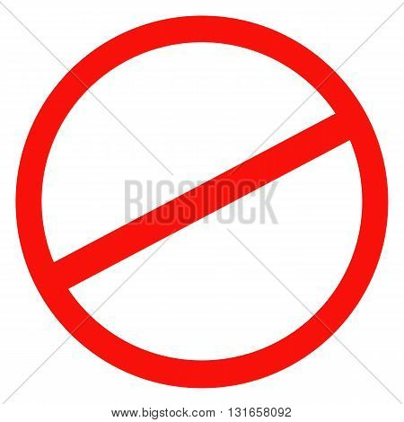 Sign ban prohibition No Sign No symbol Not Allowed isolated on white background. Vector illustration