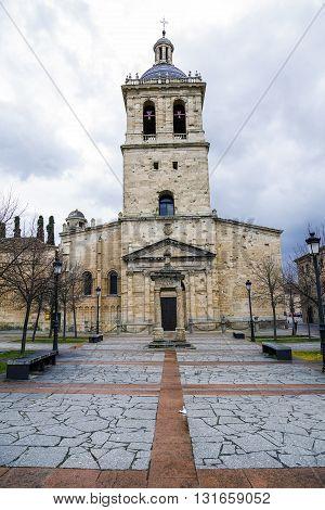 Ciudad Rodrigo Spain - March 21 2016: Cathedral of Santa Maria (12th Century) in Ciudad Rodrigo a small city in the province of Salamanca Spain.