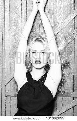 Elegant Sexy Blonde Lady