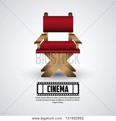 Cinema concept with icon design, vector illustration 10 eps graphic.