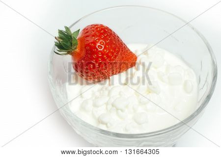 Strawberry With Cottage Cheese