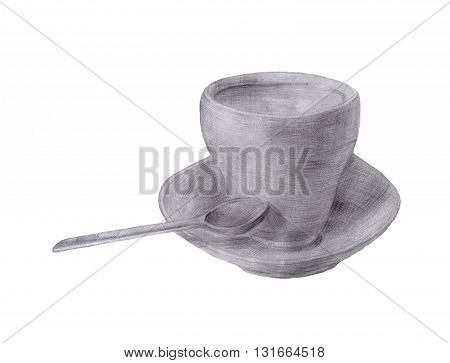 Pencil Sketch Of Tea Or Coffee