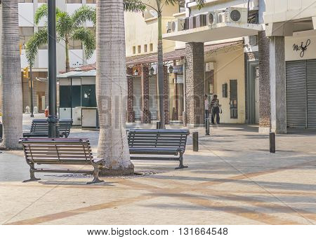 Guayaquil Ecuador Downtown Urban Scene