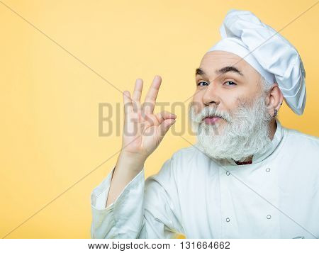 Emotional Bearded Cook
