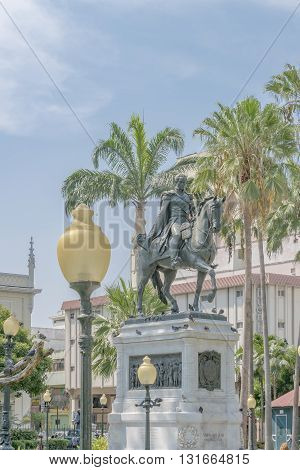 Simon Bolivar Monument Guayaquil Ecuador
