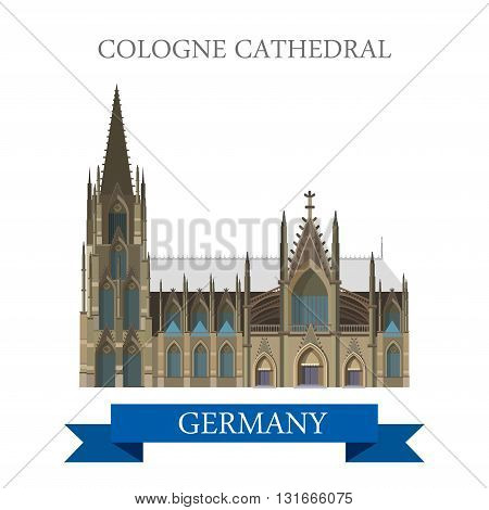 Cologne Cathedral Kolner Dom Rhine Westphalia Germany vector