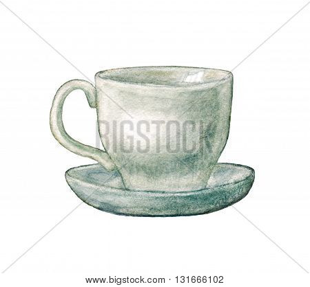 Watercolor Hand Drawn Cup