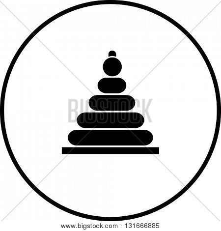 stacking rings toy symbol