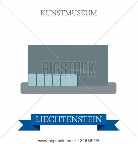 Kunstmuseum Liechtenstein flat vector attraction sight landmark