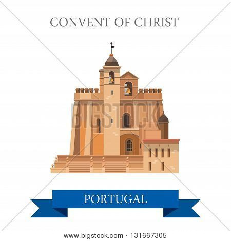 Convent of Christ Poland Europe flat vector attraction landmark