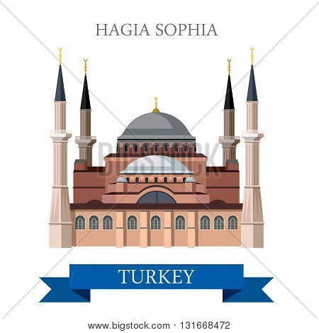 Hagia Sophia in Istanbul Turkey tourist attraction landmark