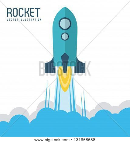 Rocket concept with icon design, vector illustration 10 eps graphic.