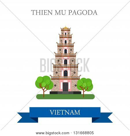 Thien Mu Pagoda in Vietnam attraction travel sightseeing