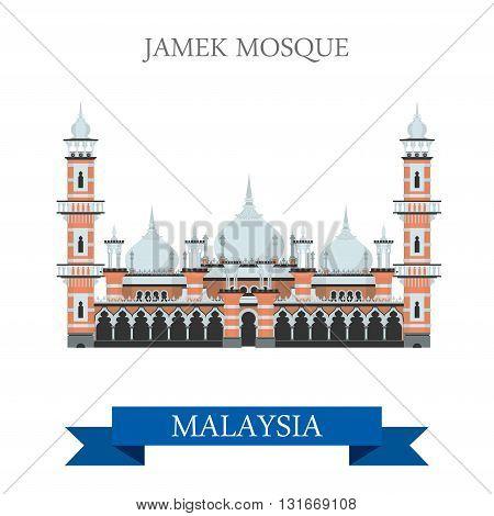 Jamek Mosque Kuala Lumpur Malaysia attraction travel sightseeing