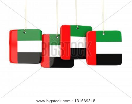 Square Labels With Flag Of United Arab Emirates