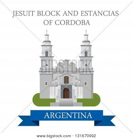 Jesuit Block Estancias Cordoba Argentina vector flat attraction