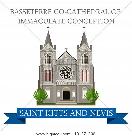 Basseterre co-Cathedral Immaculate Conception Saint Kitts Nevis