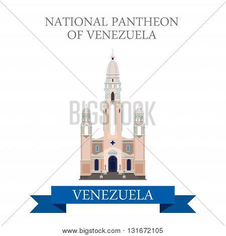 National Pantheon of Venezuela in Caracas vector flat attraction