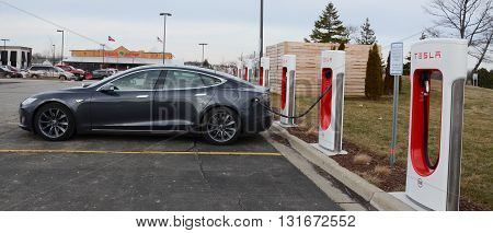 Tesla Supercharger Station, Ann Arbor, Mi