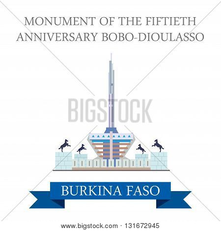 Monument Fiftieth Anniversary Bobo-Dioulasso Burkina Faso vector