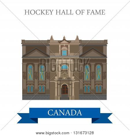 Hockey Hall of Fame Toronto Canada vector attraction landmark