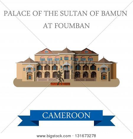 Palace Sultan Bamun Foumban Cameroon vector Africa attraction
