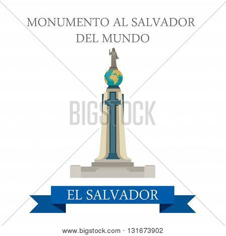 Monumento Al Salvador Del Mundo El Salvador vector attraction