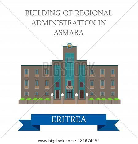 Regional Administration in Asmara Eritrea vector flat attraction