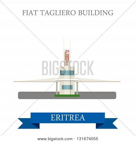 Fiat Tagliero in Eritrea vector flat Africa attraction landmarks