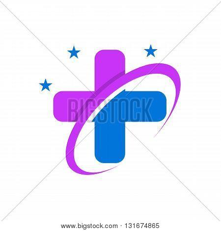 Medical logo Icon Healthy concept design vector