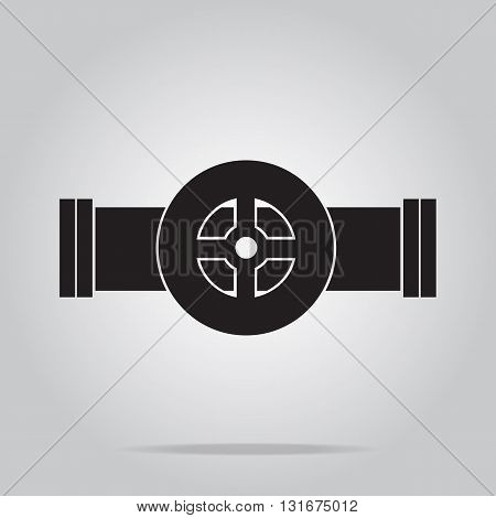 Pipe and valve icon sign vector illustration
