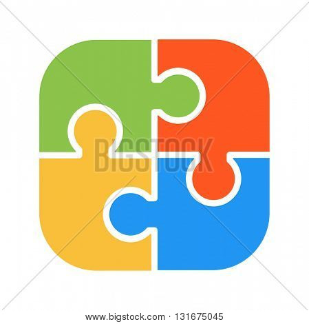 Various puzzle vector illustration.
