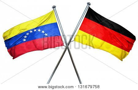 Venezuela flag  combined with germany flag, 3D rendering