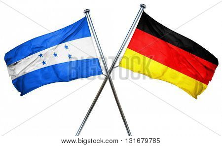Honduras flag  combined with germany flag, 3D rendering