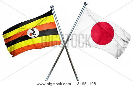 Uganda flag  combined with japan flag