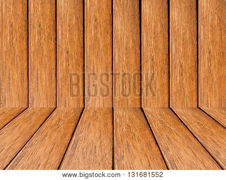 Curved wooden background for interior room. Wood wallpaper.