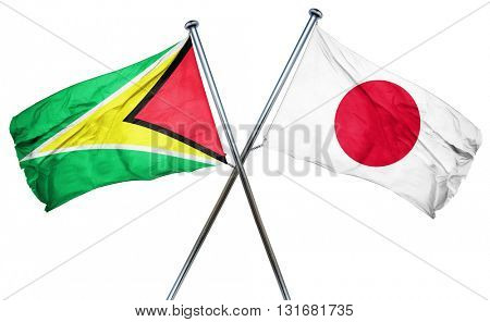 Guyana flag  combined with japan flag