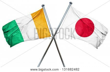 Ivory coast flag  combined with japan flag