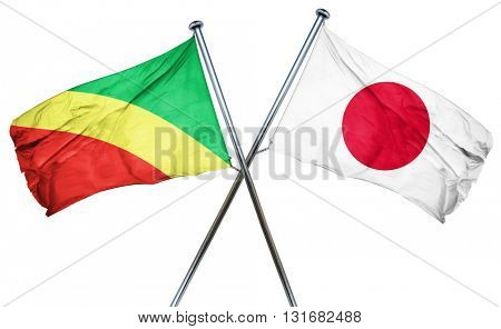 Congo flag  combined with japan flag
