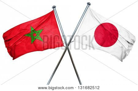 Morocco flag  combined with japan flag