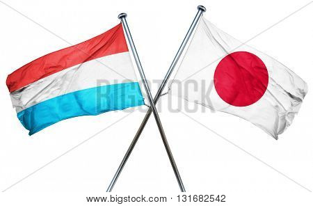 Luxembourg flag  combined with japan flag