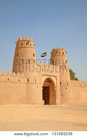 Famous Jahili fort in Al Ain oasis, United Arab Emirates